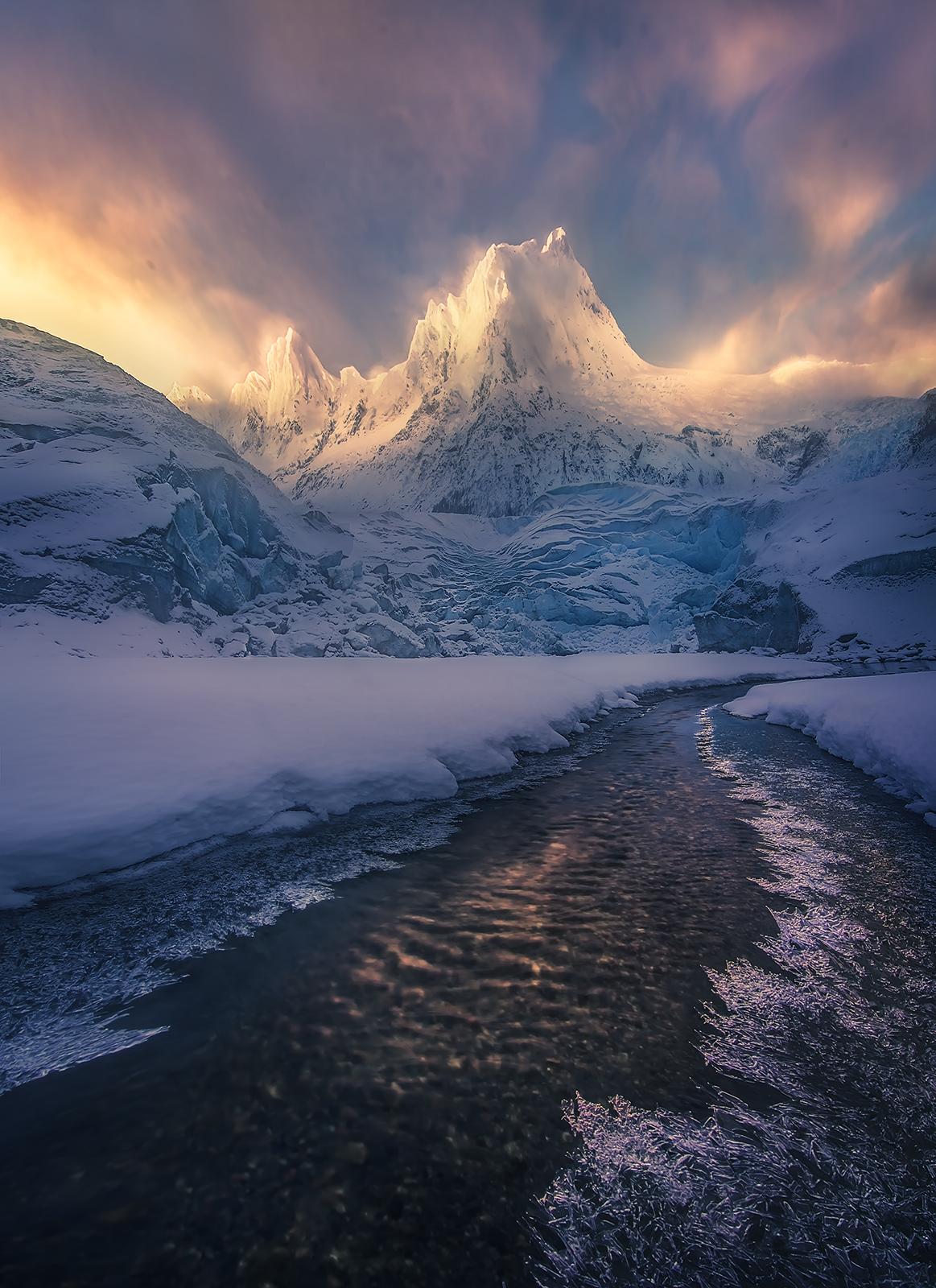 Alaska, Winter, Mountains, Coast Mountains, Glacial, Ice, Frozen, Cold, photo