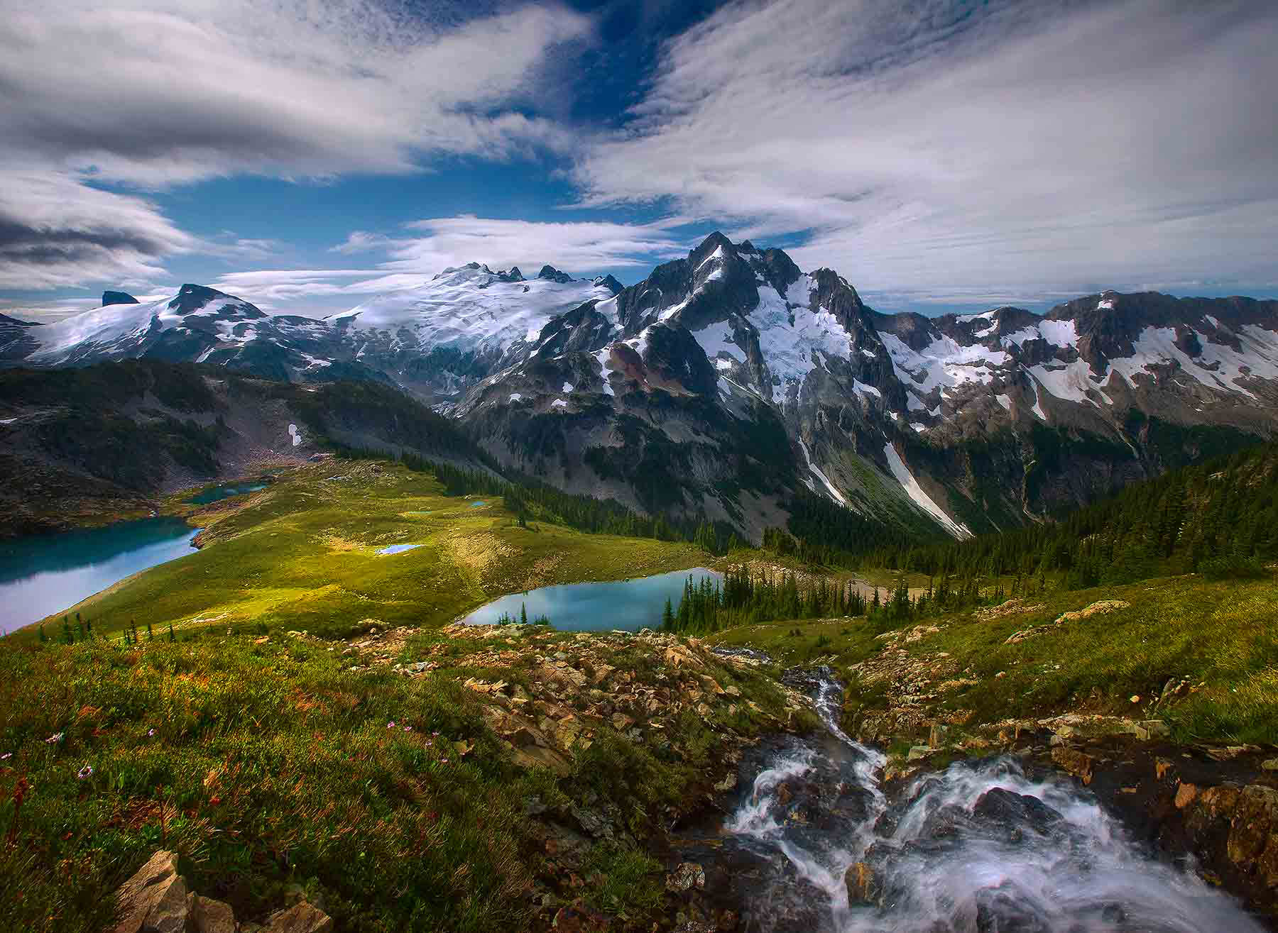 View, remote, mountain, paradise, washington, north cascades, photo