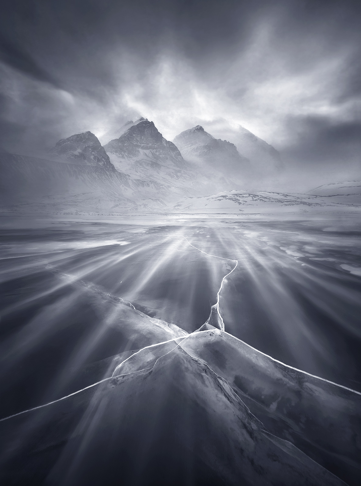 winds, blowing snow, clear ice, ice, glacier, alberta, icefields, photo