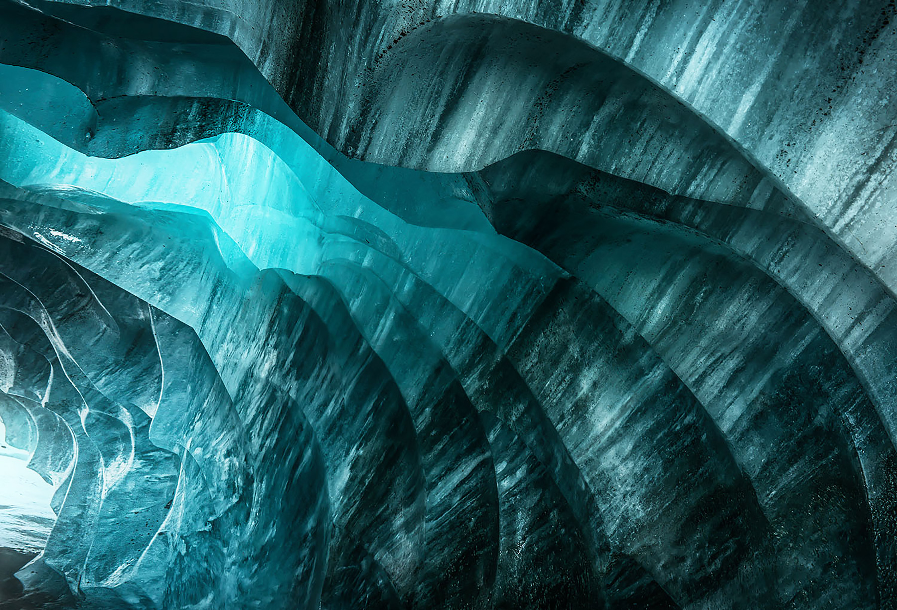 Alaska, ice cave, ice, blue, cold, frozen, photo