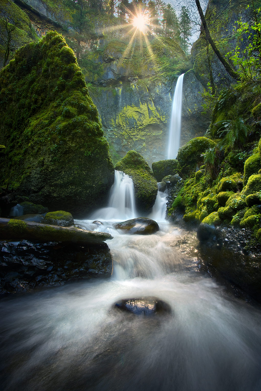 Columbia Gorge, Oregon, Sun, Falls, Cascades, photo