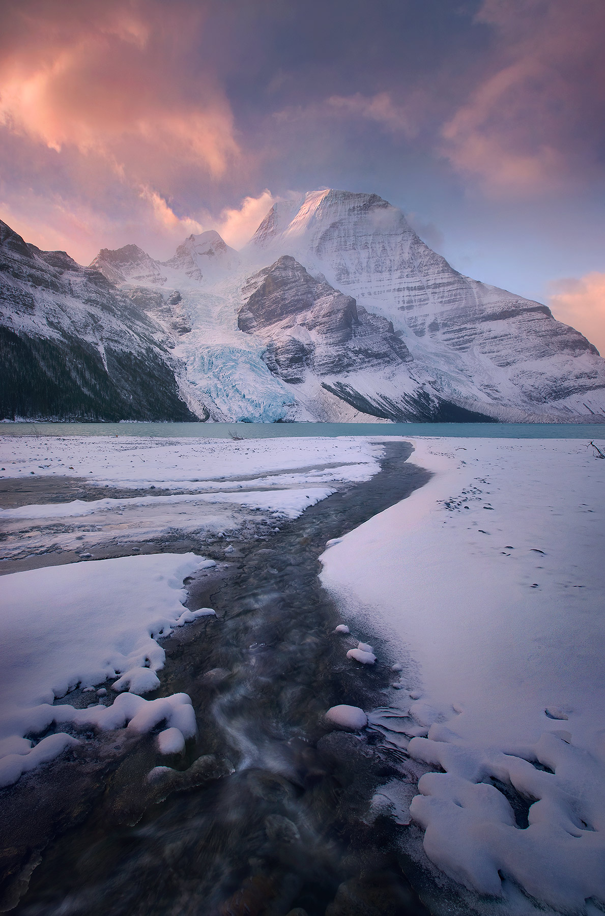 stunning, atmosphere, mount robson, canadian rockies, peak, sunrise, photo