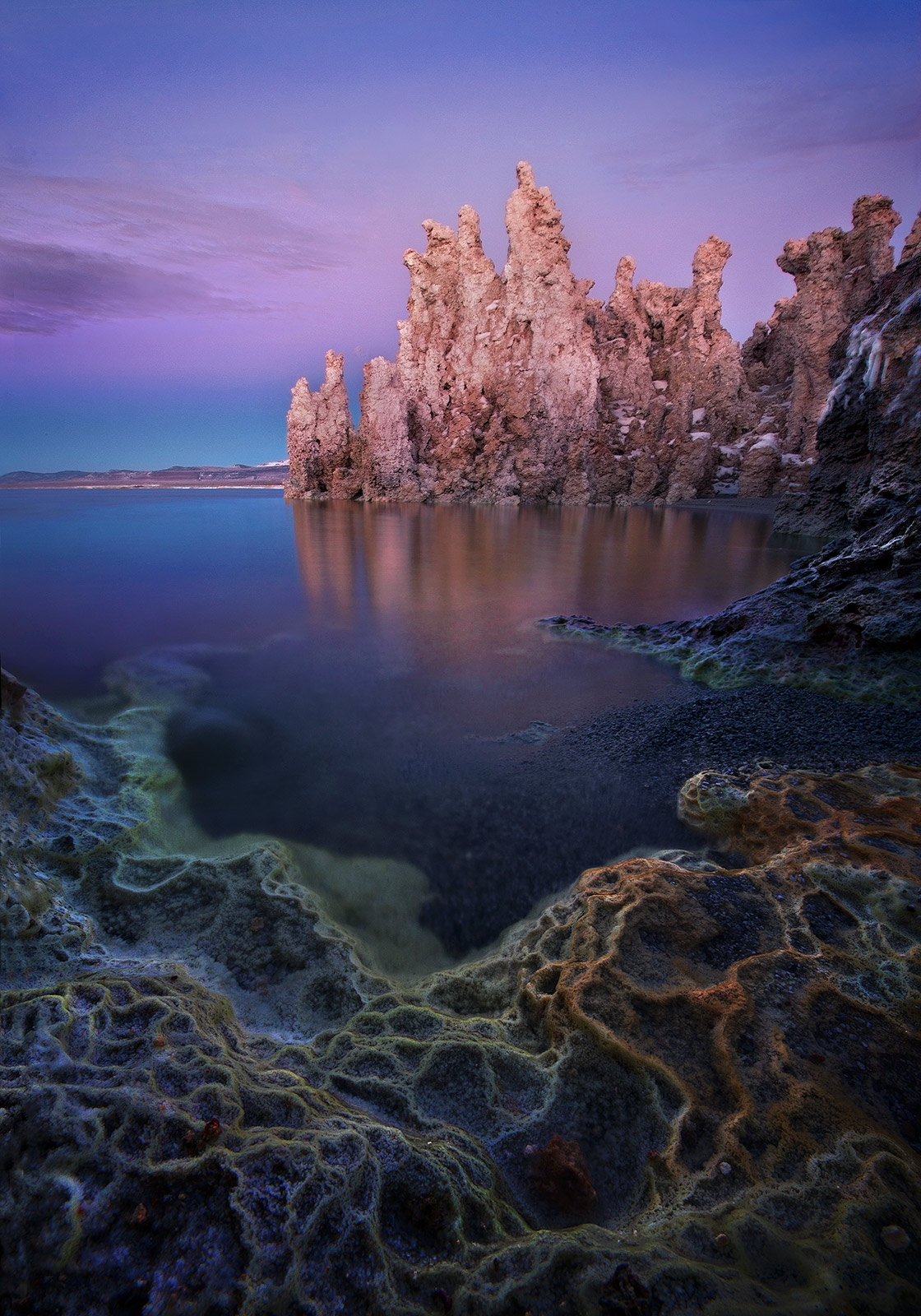 original, mineral, california, mono lake, twilight, photo