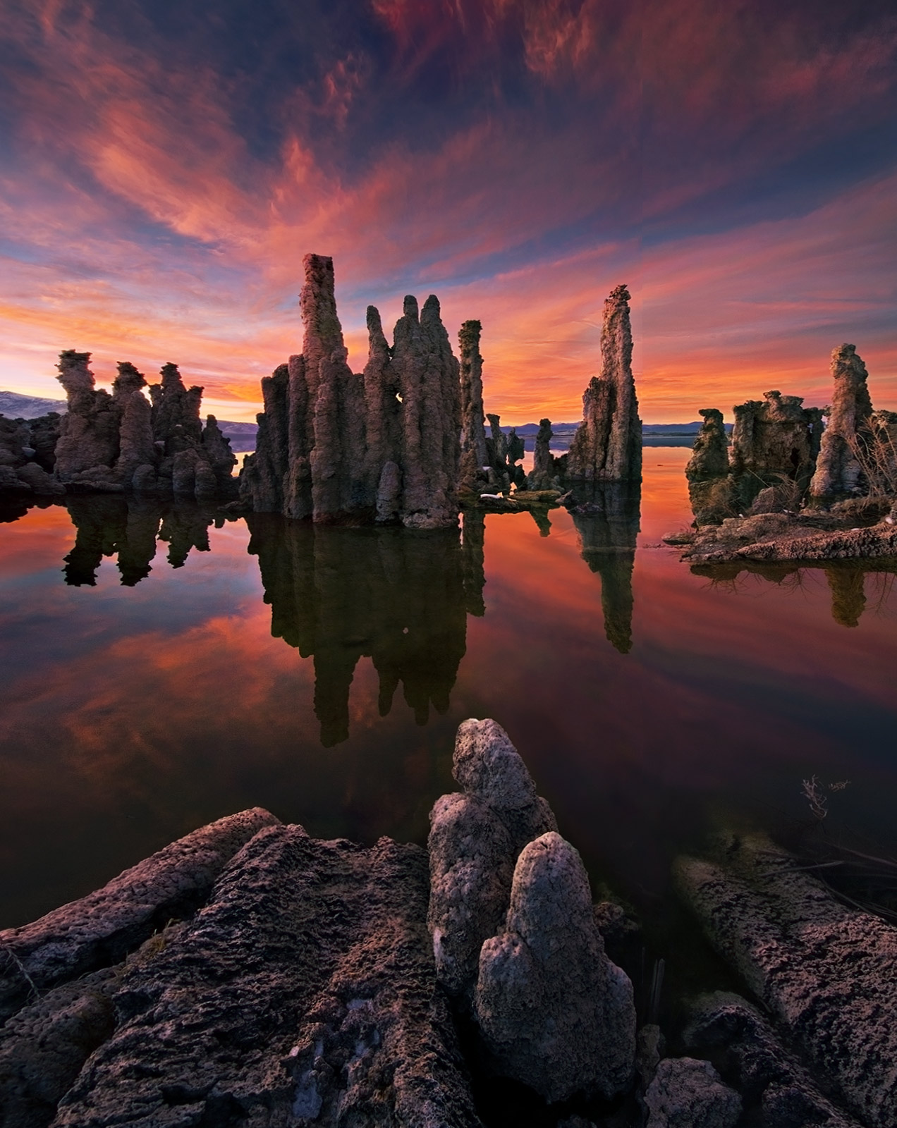 Mono, Lake, Sunset, photo
