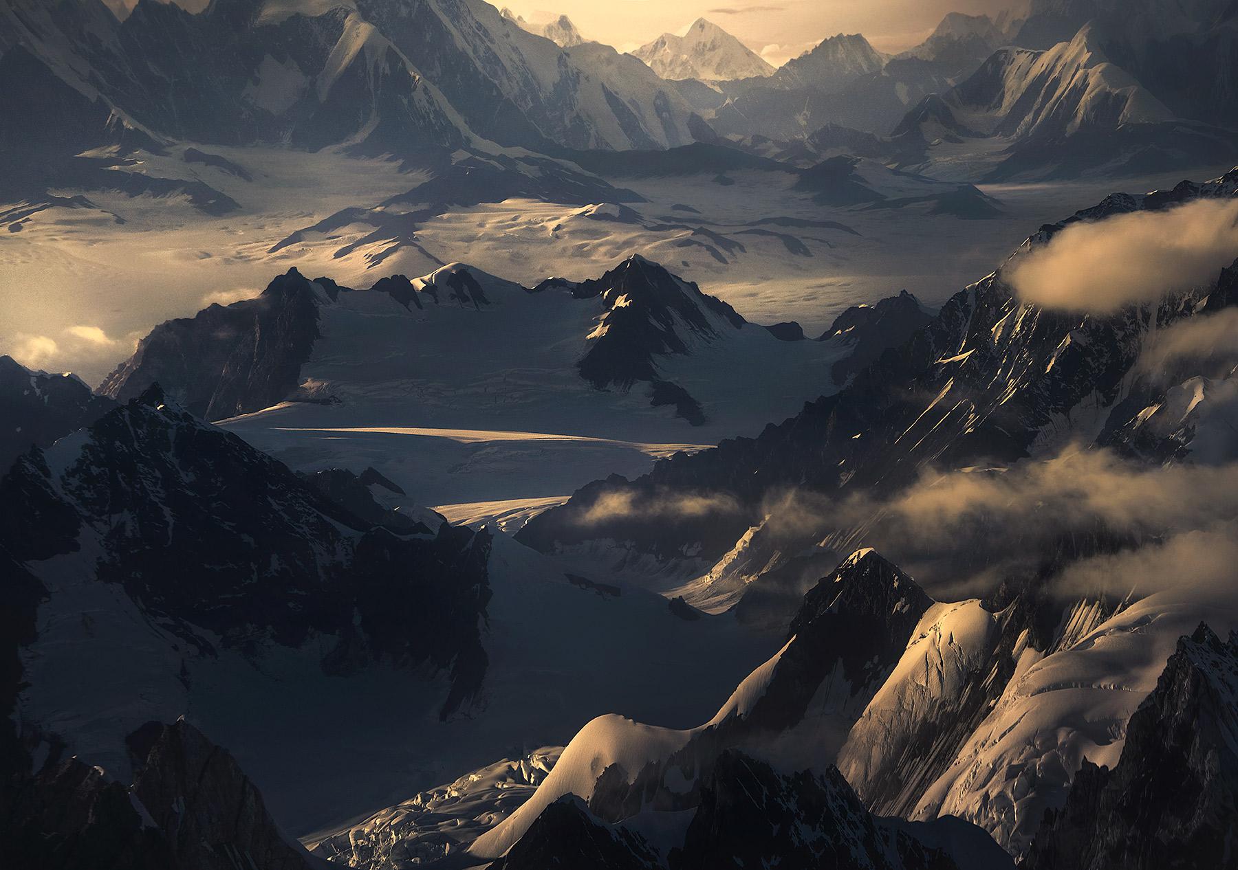 Wrangell, ice, glaciers, kluane, peaks, alaska, photo
