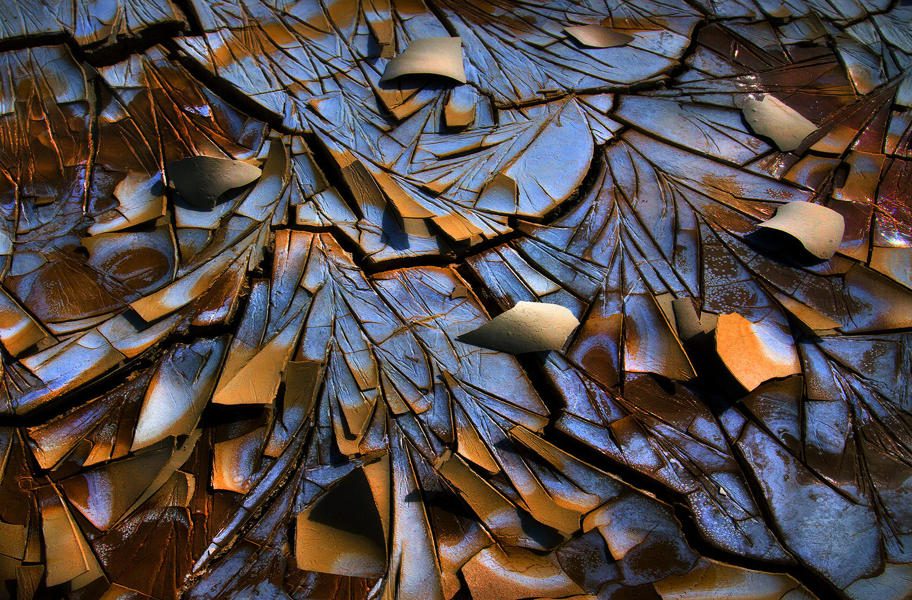 Cracked, desert, abstract, playa, oregon, photo