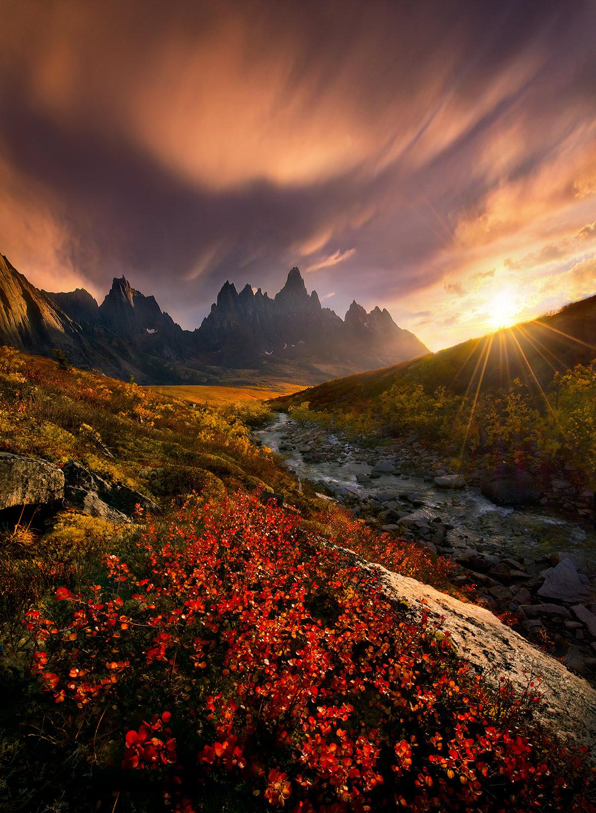 Autumn, Yukon, Peaks, vibrant, photo