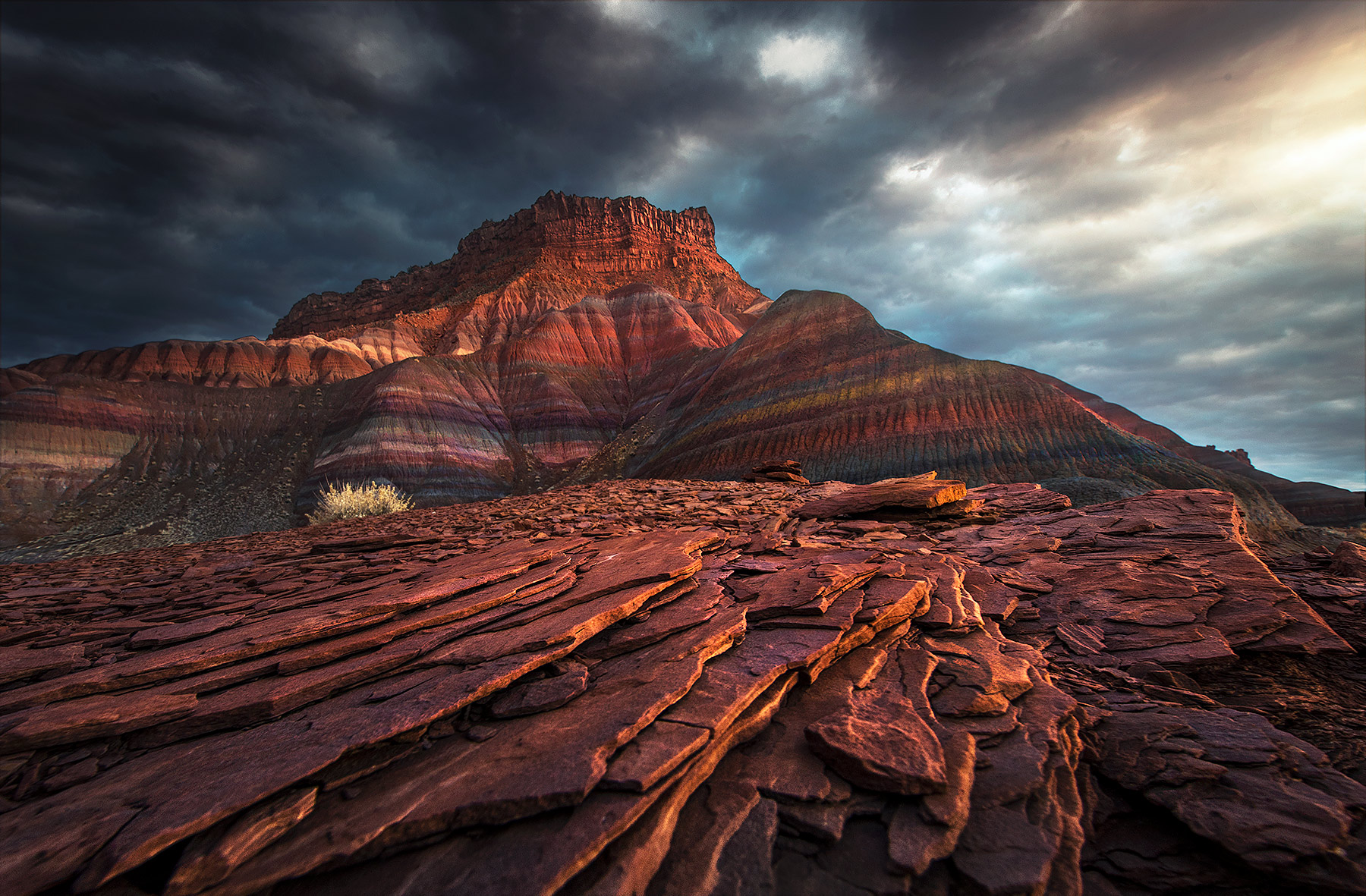 Utah, badlands, paria, storm, photo