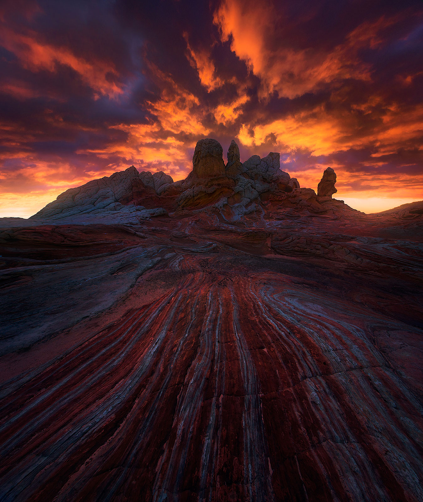 sunset, sandstone, dramatic, jagged, arizona, colorado plateau, photo