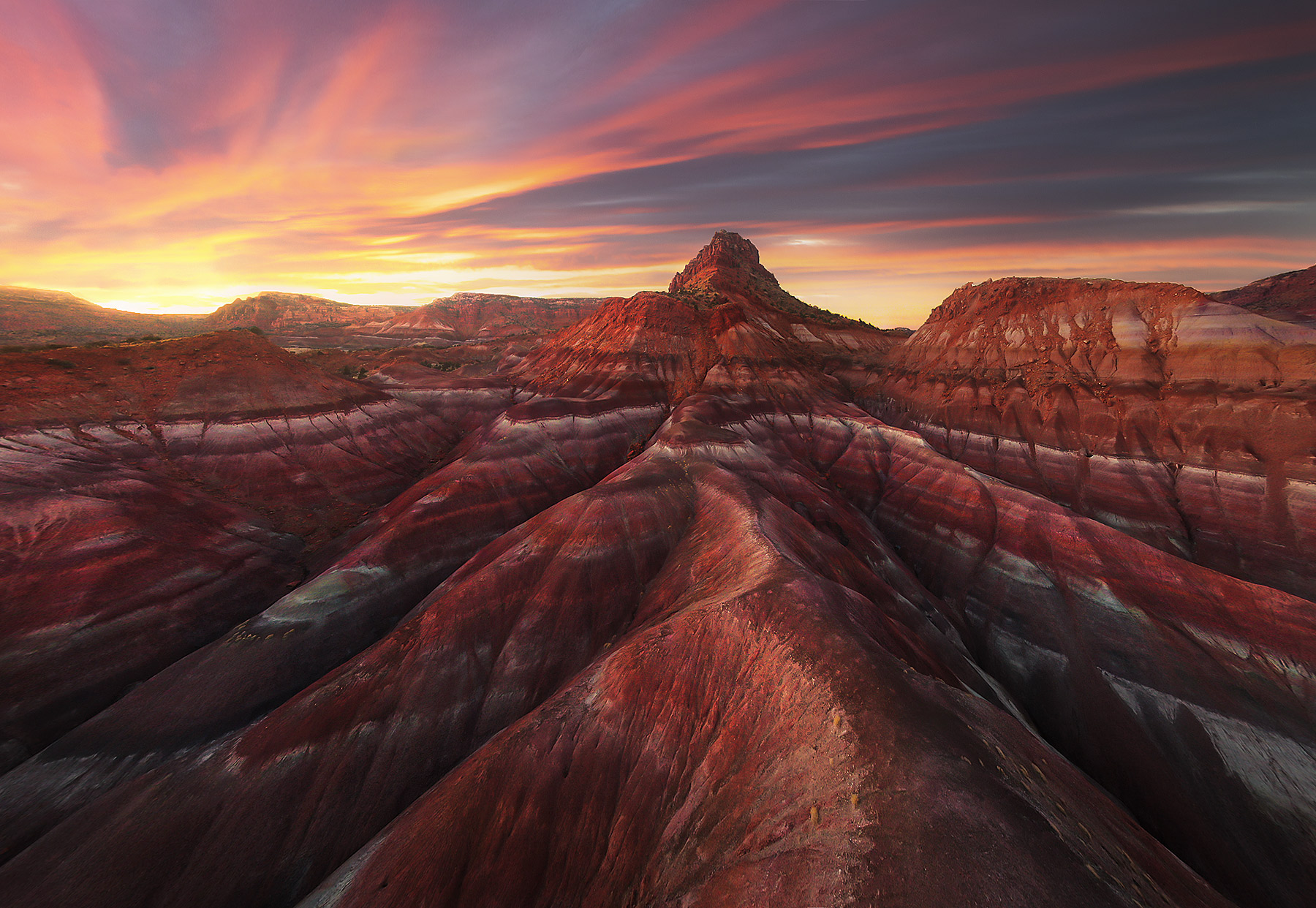 Bentonite, Utah, sunset, photo