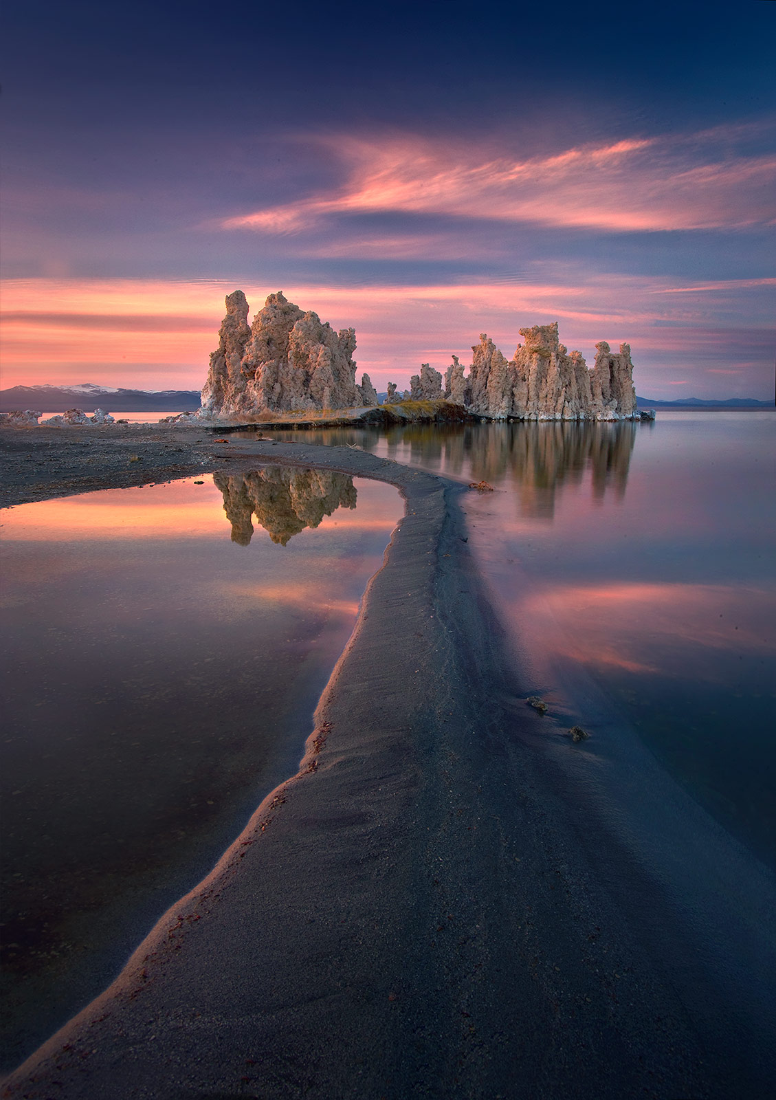 mono lake, california, tufa, sunset, unique, photo