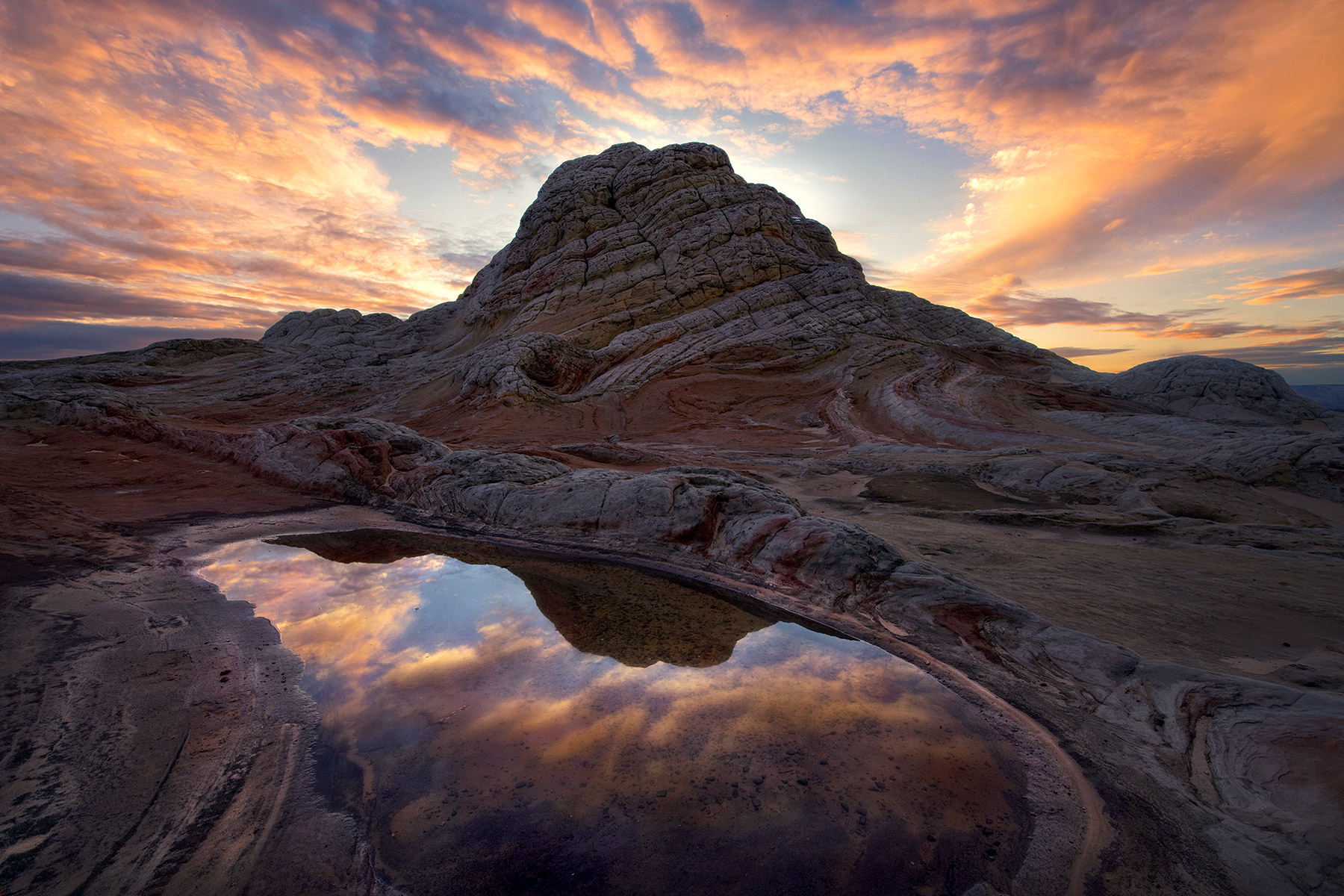 White Pocket, Arizona, Sunset, reflected, photo