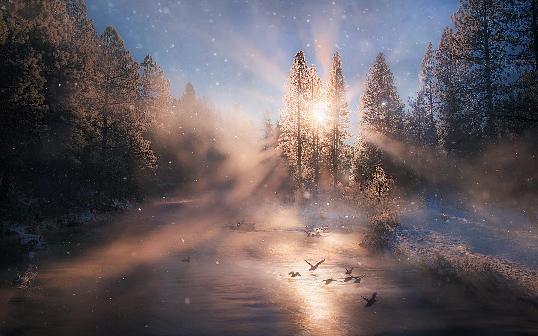 Klamath, oregon, winter, cold, photo