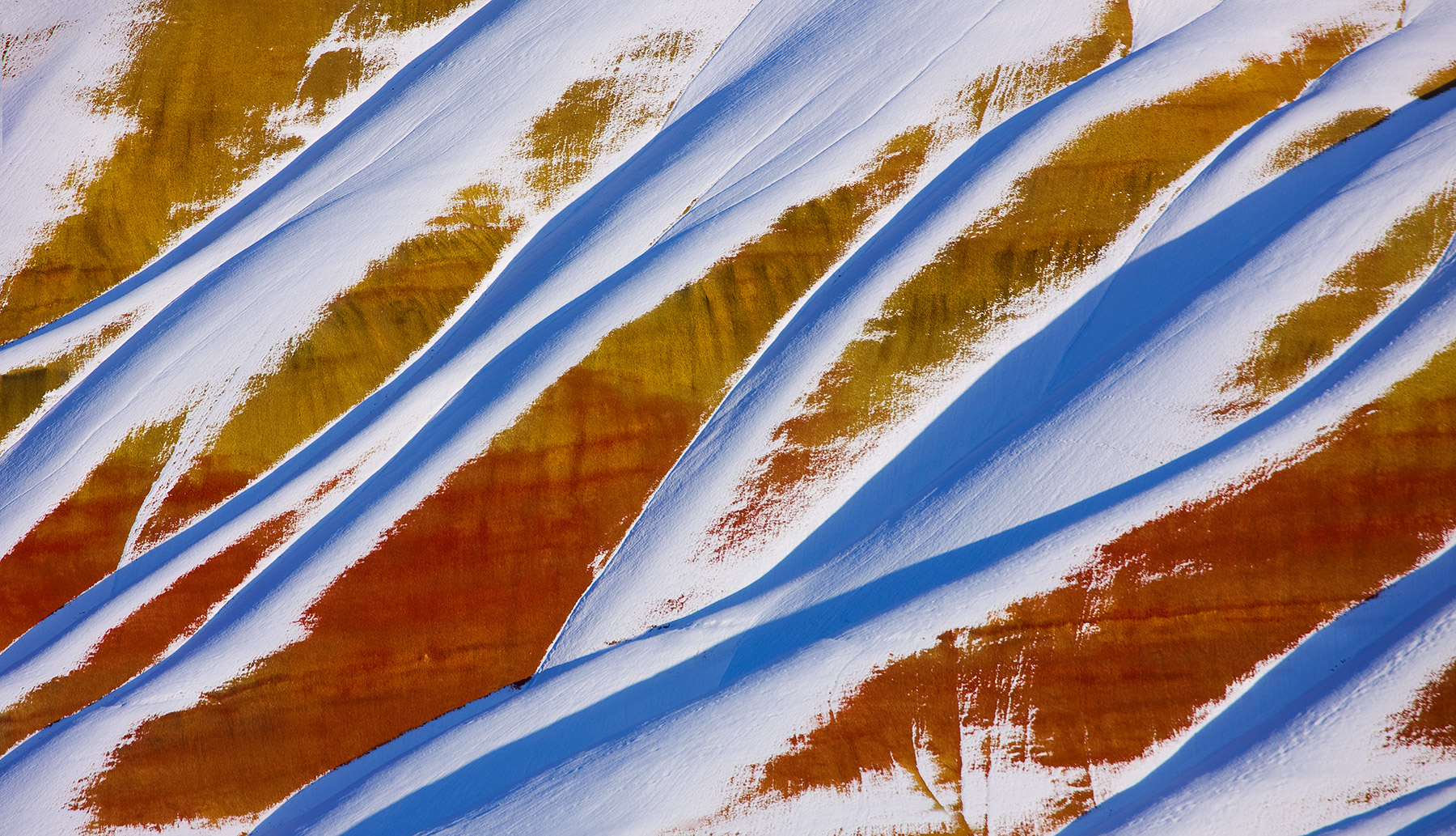 Oregon, Painted Hills, Colorful, Snow, photo