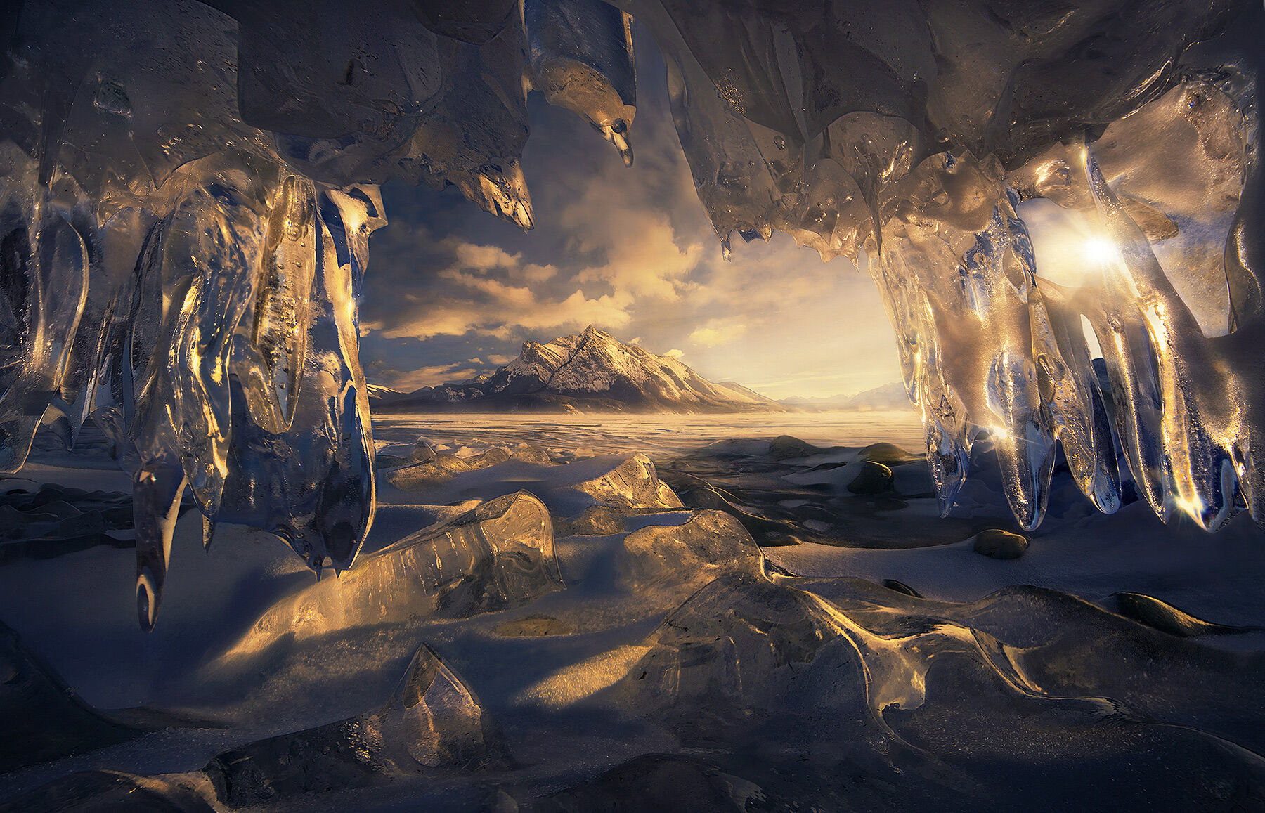 Crystal, ice, icicle, canadian rockies, rockies, canada, alberta, marc adamus, snow, winter, mountains, ice cave, abraham, photo