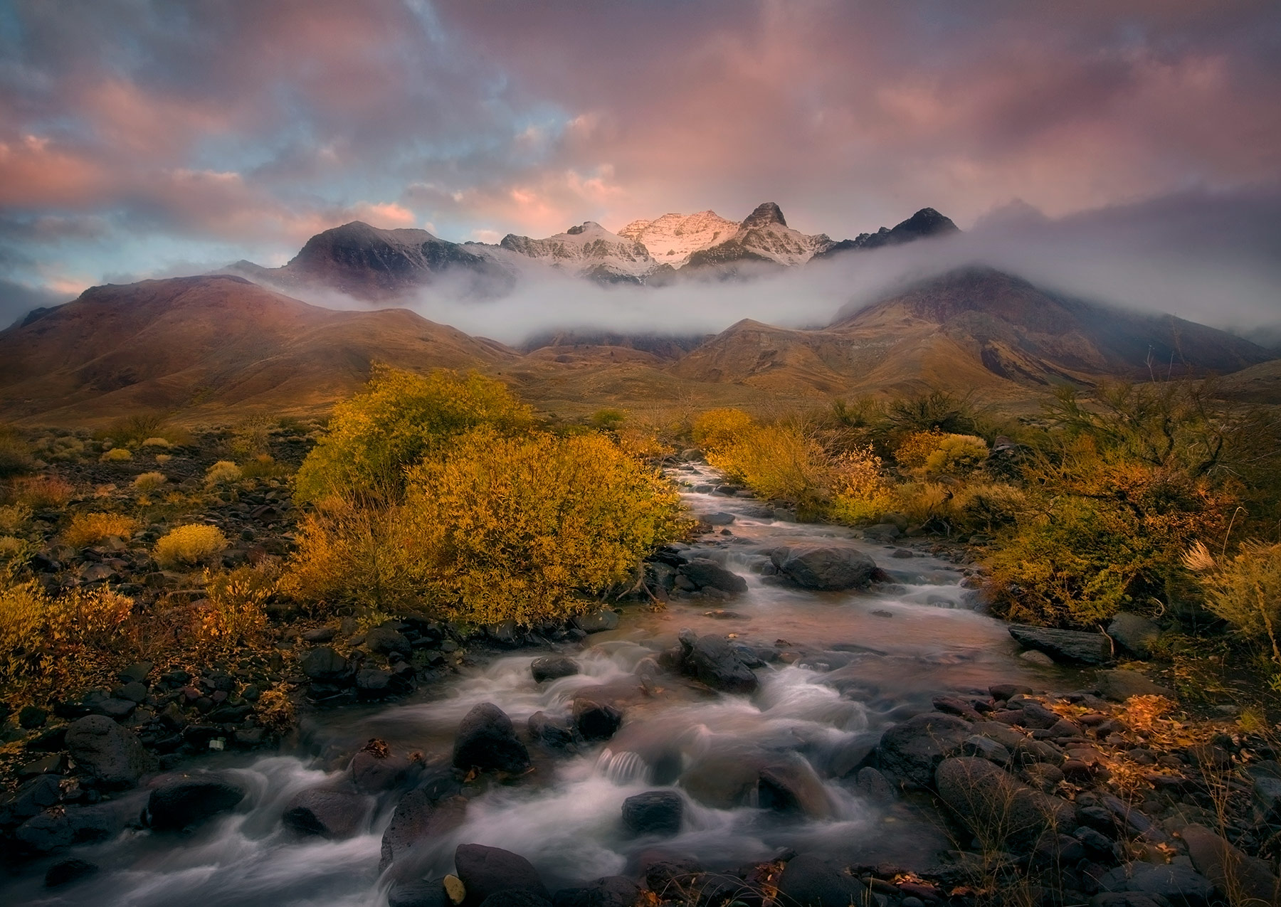 Autumn, Steens, Mountains, Alvord, Creek, Sunrise, photo