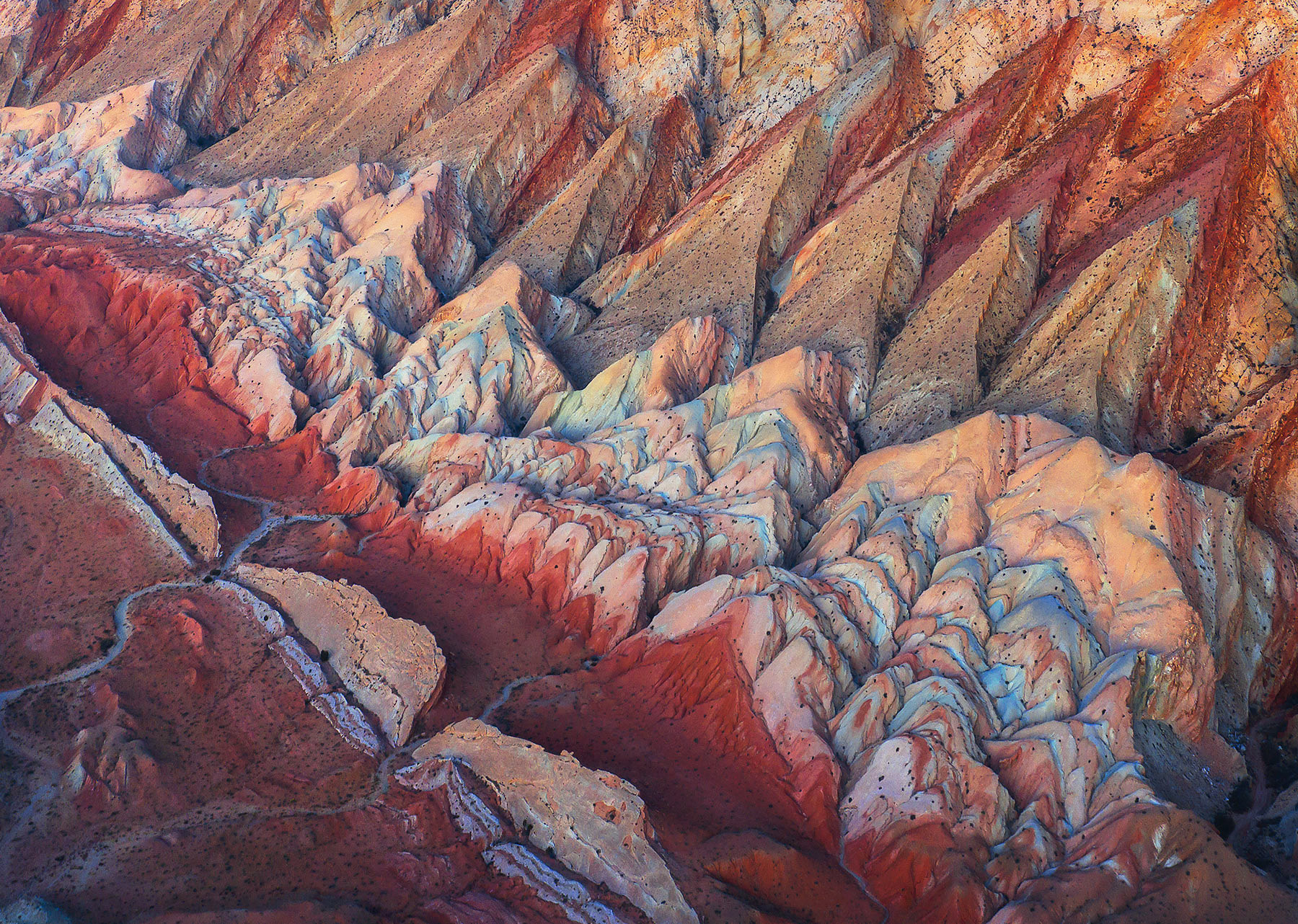 Layers of sandstone from the air.  The amazing swells of Utah are an unforgettable geological showcase.