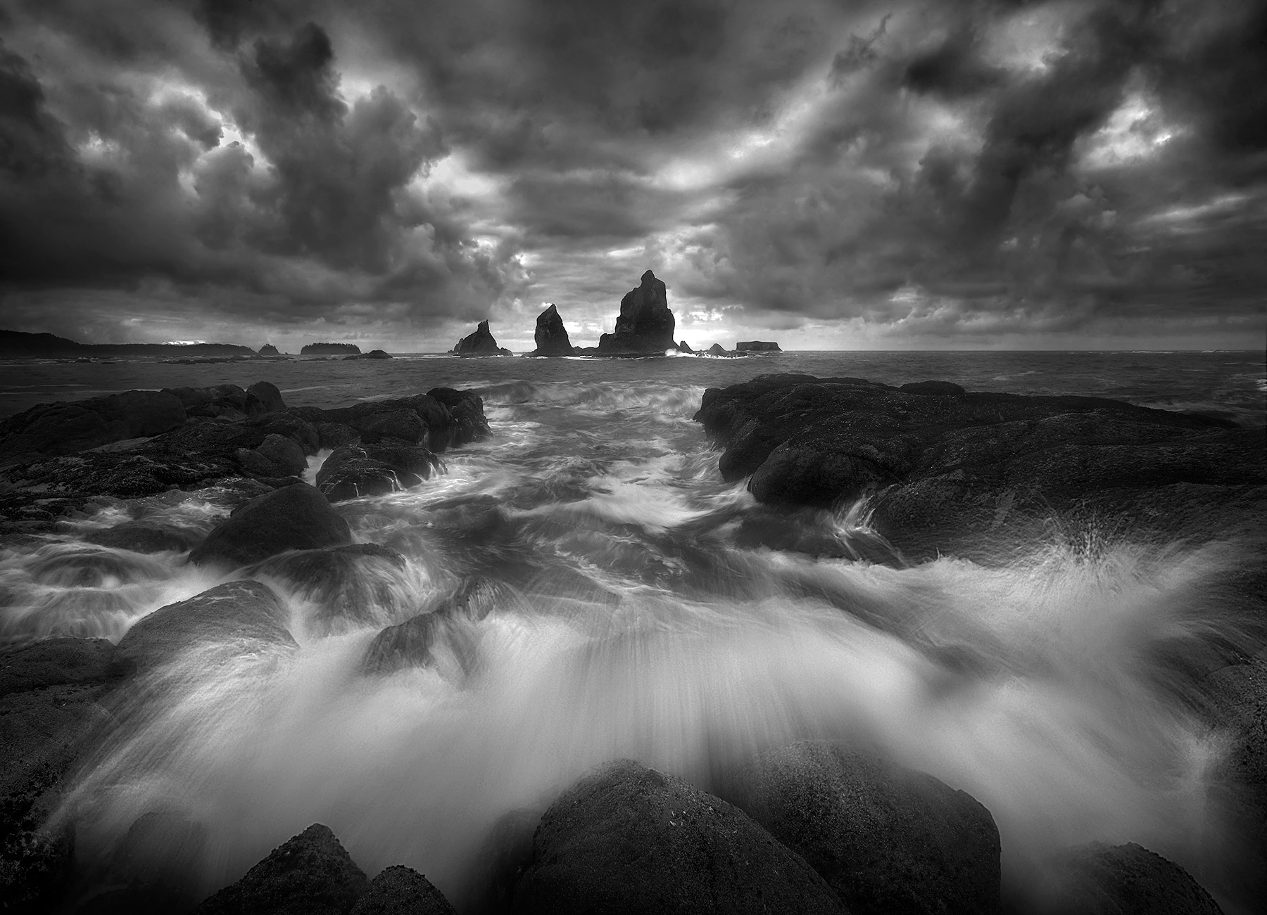 Island, Olympic, Coast, Washington, Stormy, Waves, photo