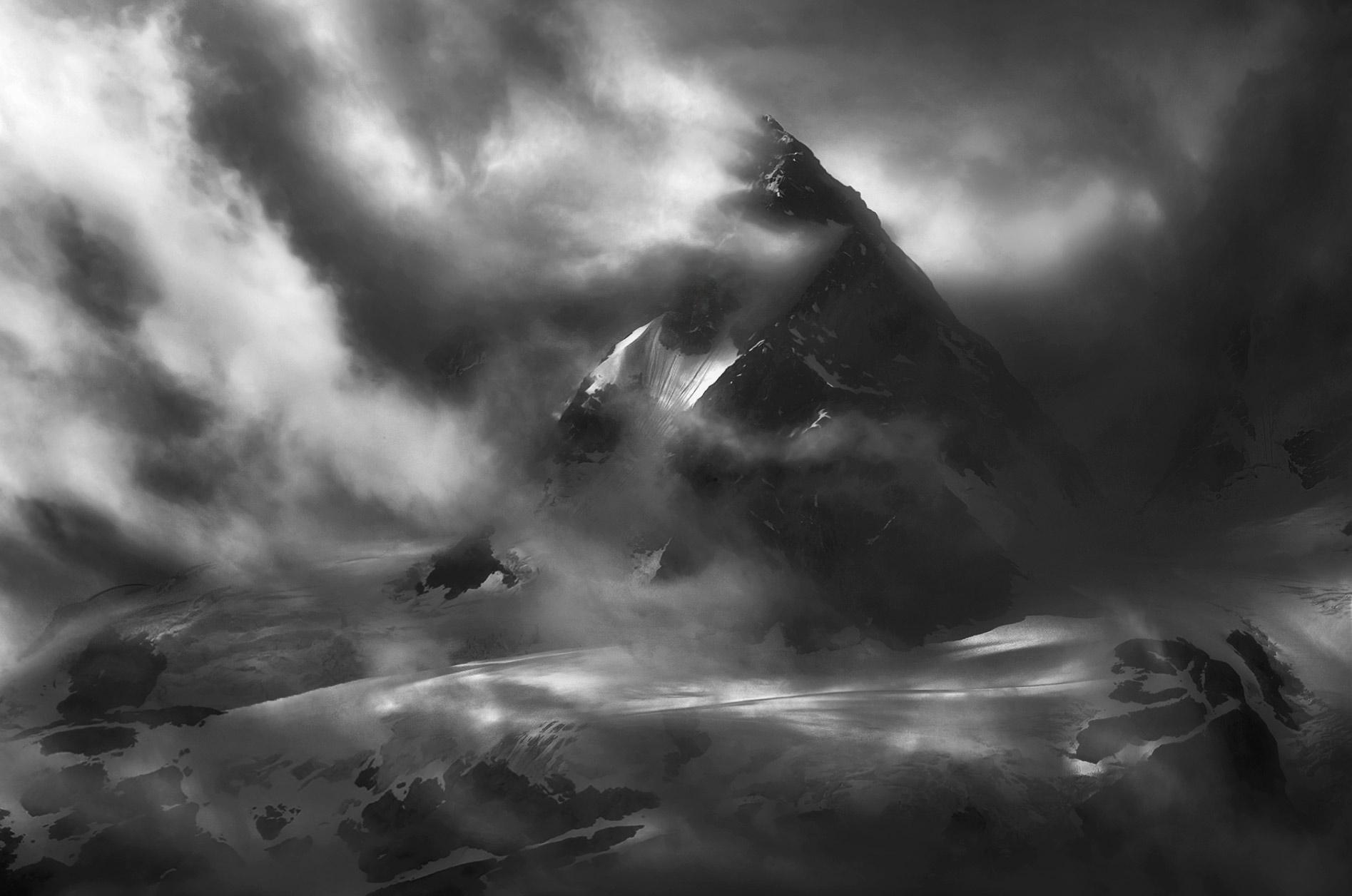 mountains, dramatic, storm, glacier, peaks, summit, british columbia, alaska, photo