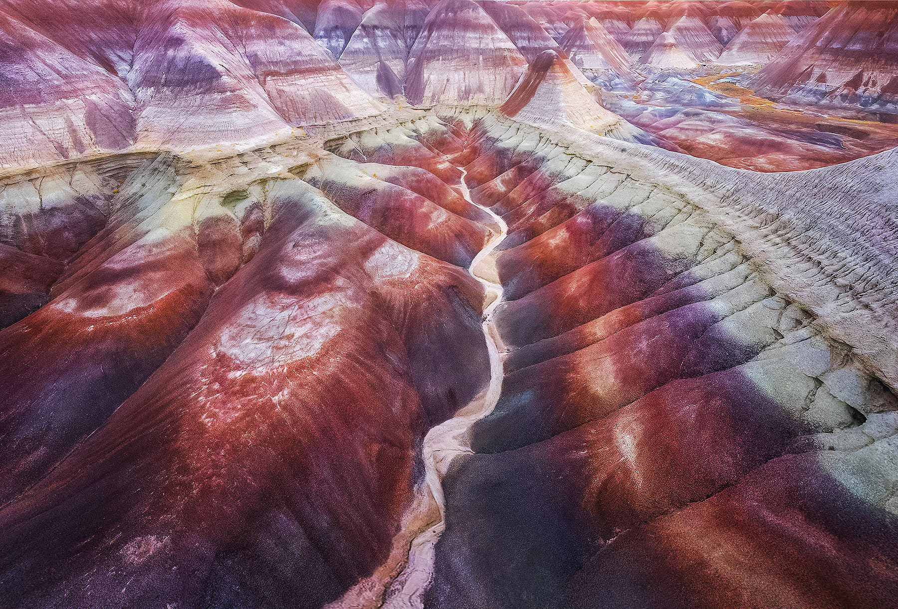 One of the dozens of regions of painted badlands that look like this in the beautiful state of Arizona.  So much fun to see these...