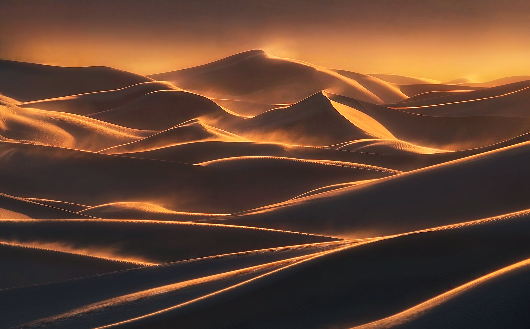 Death Valley, Dunes, Winds, Sunset, photo