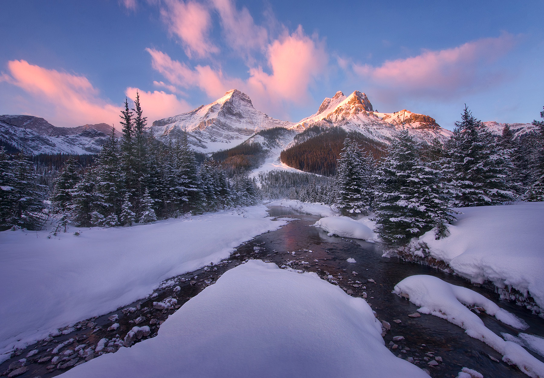 Canadian Rockies, Winter, Sunrise, photo